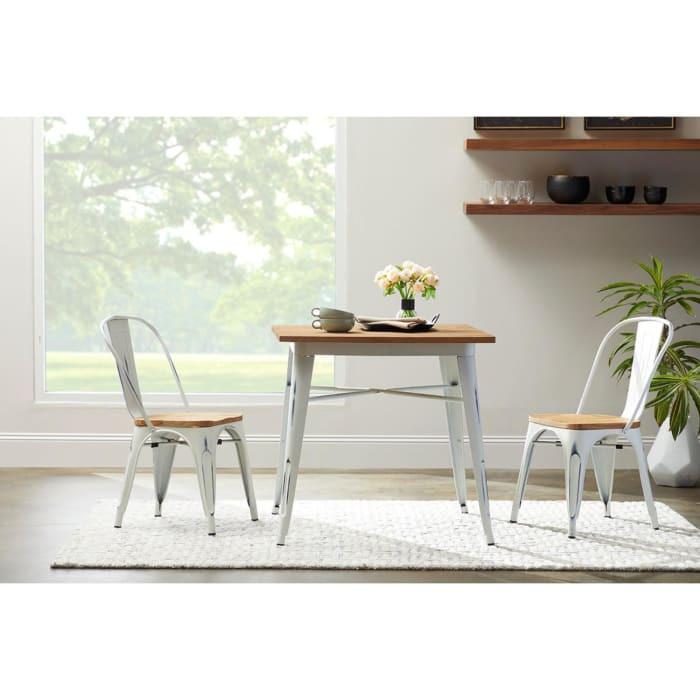 Antik Beyaz Yemek Masası
